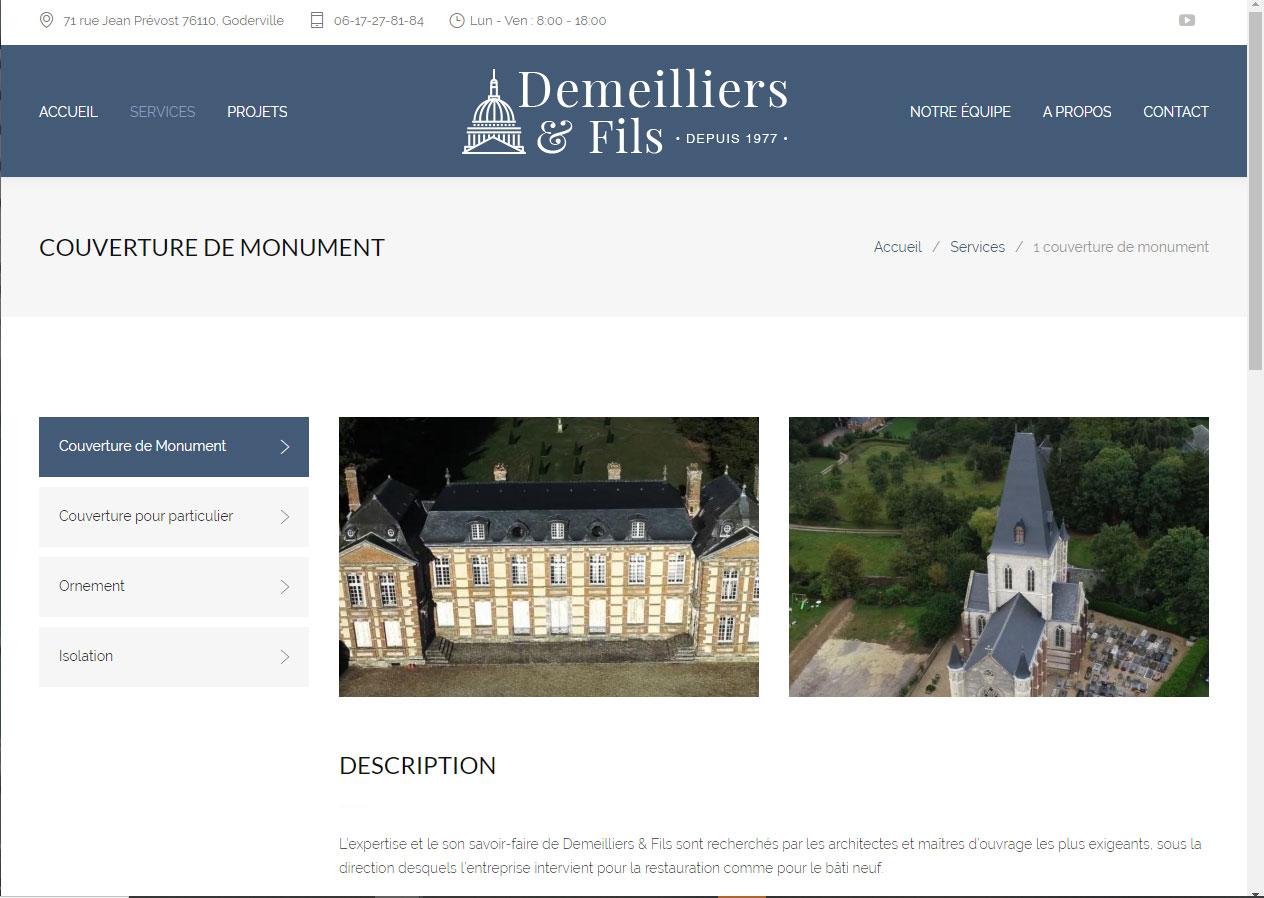 Site Internet Vitrine Démo Demeilliers-et-fils
